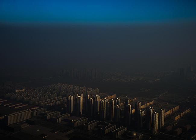 Haze in China - Zhang Lei A city in northern China shrouded in haze, Tianjin, China.