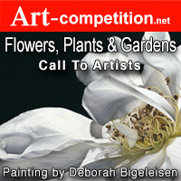 """Flowers, Plants & Gardens"" art call for a group exhibition at Gallery 25N - logo"