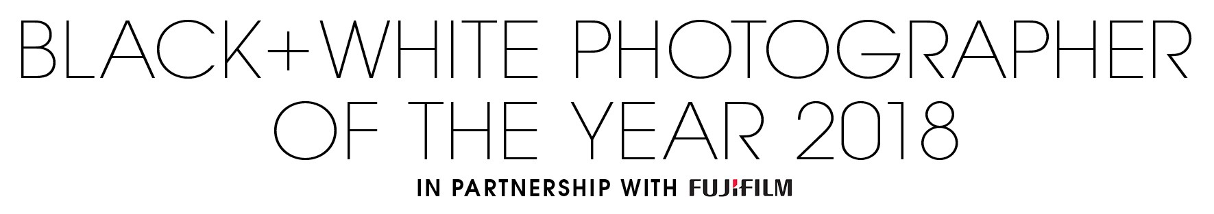 Black+White Photographer of the Year 2018 - logo