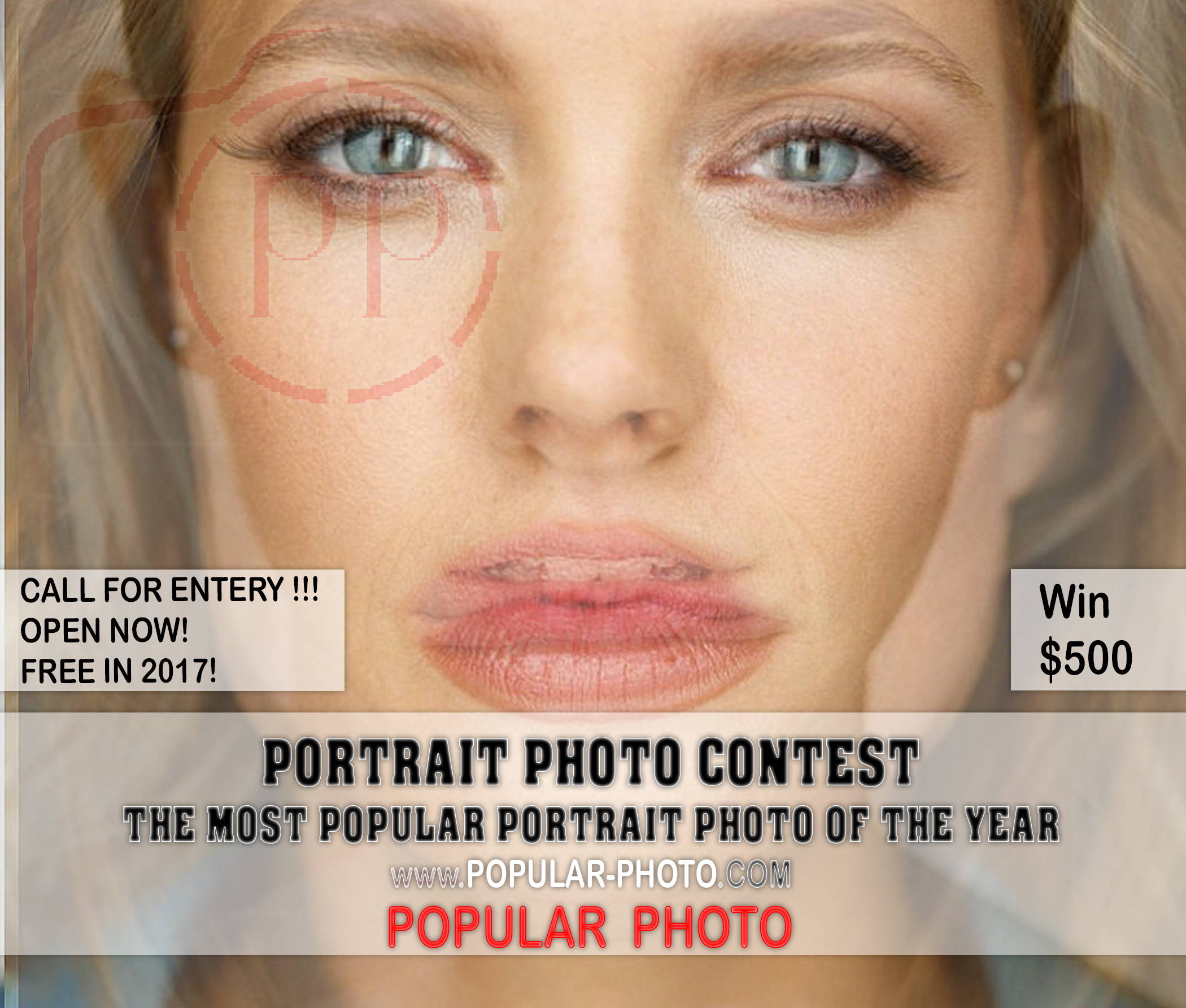 THE POPULAR PORTRAIT PHOTO COMPETITION  2018 by POPULAR-PHOTO.COM - logo