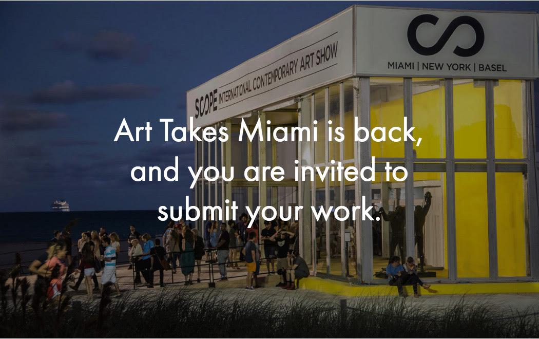 Calling all artists! Art Takes Miami x SCOPE 2018 - logo