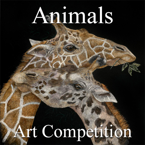 """9th Annual """"Animals"""" Online Art Competition - logo"""