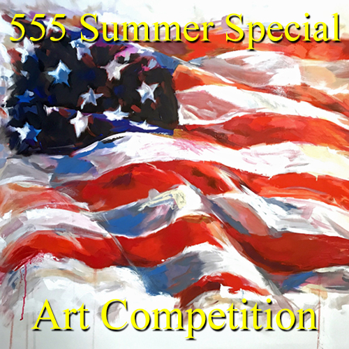 """""""5 Dollars, 5 Entries, 5 Winners!"""" – Summer Special Art Competition - logo"""