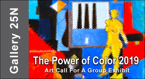 """Call For Entries for """"The Power of Color 2019"""" Photographers & Artist - logo"""
