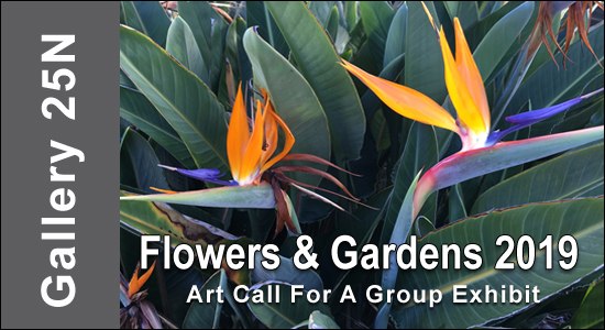 ART CALL TO ARTISTS AND PHOTOGRAPHERS – Flowers & Gardens 2019 - logo