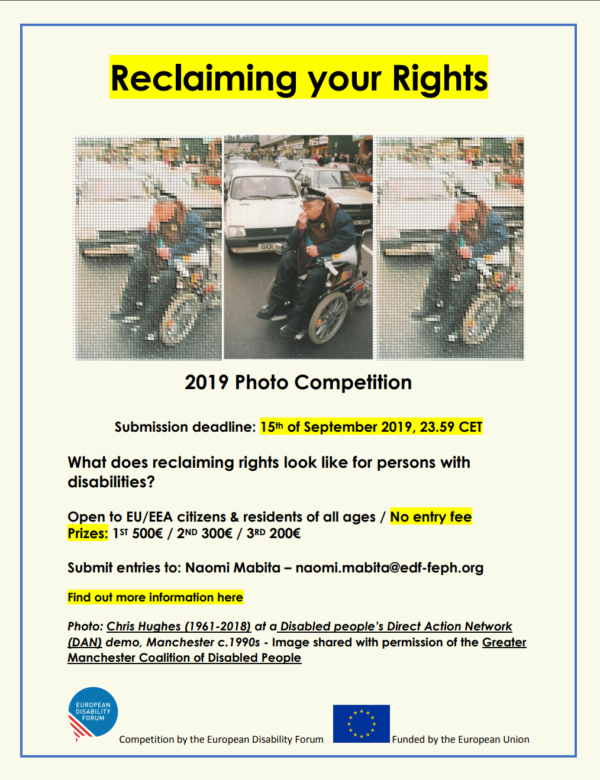 Photo Competition Reclaming your Rights